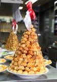 Cakes in pyramid shape stock photo
