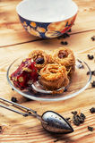 Cakes recipe Oriental sweets Royalty Free Stock Image
