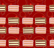 Cakes red seamless texture Stock Photography