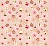 Cakes seamless background Royalty Free Stock Photography