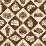 Cakes seamless pattern Stock Photos