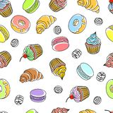 Cakes Seamless Pattern Royalty Free Stock Images