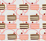 Cakes seamless texture Royalty Free Stock Photography