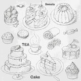 Cakes set Stock Photo