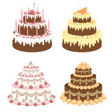 Cakes set Stock Images