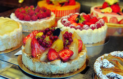 Cakes in a shop Royalty Free Stock Photography