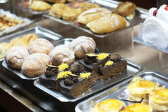 Cakes in a shop. Royalty Free Stock Image
