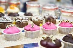Cakes in shop Stock Photos