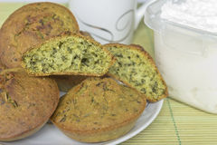Spinach cake Royalty Free Stock Images