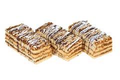 cakes sponge smakligt Royaltyfria Bilder