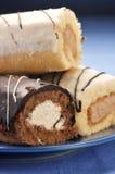 cakes sponge tre Royaltyfria Bilder