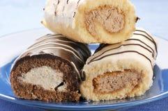 cakes sponge tre Arkivbilder
