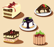 Cakes and strawberry, other berry Royalty Free Stock Photo