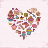 Cakes, Sweets and Desserts Stock Photography