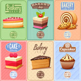 Cakes and Sweets Mini Posters Collection Stock Image