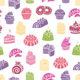 Cakes and sweets seamless pattern background Royalty Free Stock Photography