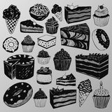 Cakes and sweets. Various version of delicious cakes and sweets Royalty Free Stock Images