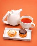 Cakes with tea Stock Photo
