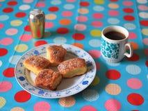 Cakes and tea Stock Photos