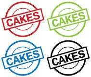 CAKES text, on round simple stamp sign. Royalty Free Stock Photos