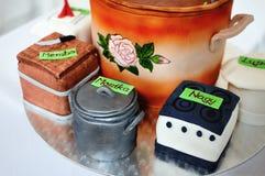 Cakes to celebrate graduates Stock Photo