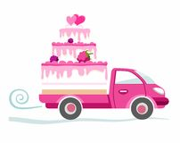 Cakes to order, delivery, coloured picture. Royalty Free Stock Image