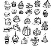 Cakes. Vector Illustration Stock Photo