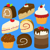 Cakes Vector Set Stock Photo