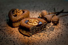 Cakes with walnuts Stock Image