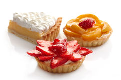Cakes on a white background Stock Image