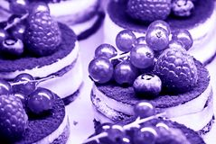Cakes With Cream And Berries Royalty Free Stock Photos