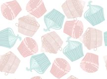 Cakesachtergrond stock illustratie