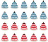 CakesBluePink Royalty Free Stock Photos