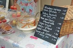Cakesbox en Prijslijst  Royalty-vrije Stock Foto's