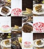 Cakescollage Stock Afbeelding