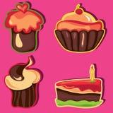 cakeset Royaltyfri Foto