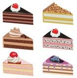 cakeskivor vektor illustrationer