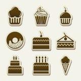 Cakespictogrammen Stock Foto