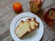 Cakestea caseiro com bolos caseiros fotografia de stock