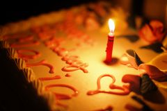 cakestearinljus Arkivbilder