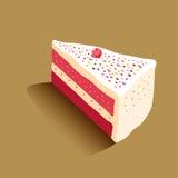 cakestycke royaltyfri illustrationer
