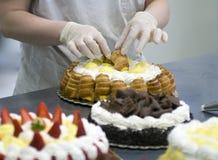 Cakevoorbereiding Royalty-vrije Stock Afbeeldingen