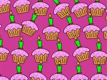 cakewallpaper royaltyfri illustrationer