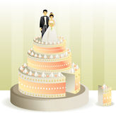 CakeWeddingCut Fotografia de Stock Royalty Free