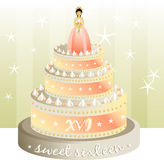 CakeXVItext Illustrazione di Stock