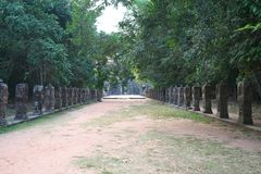 A calçada do leste de Preah Khan, Siem Reap, Camboja foto de stock royalty free