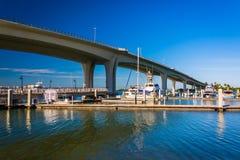 Calçada memorável de Clearwater, em Clearwater, Florida Imagens de Stock Royalty Free