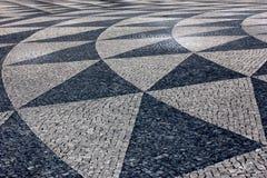 Calçada portoghese, Lisbona, Portogallo Fotografia Stock