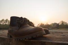 Calçados da bota Imagens de Stock