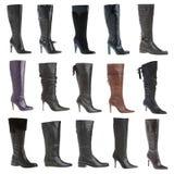 Calçados da fêmea do outono e do inverno Imagem de Stock Royalty Free